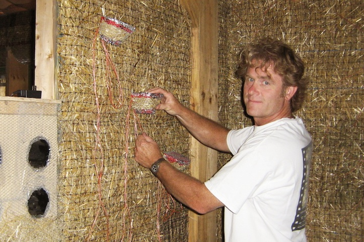Dave Loney straw bales